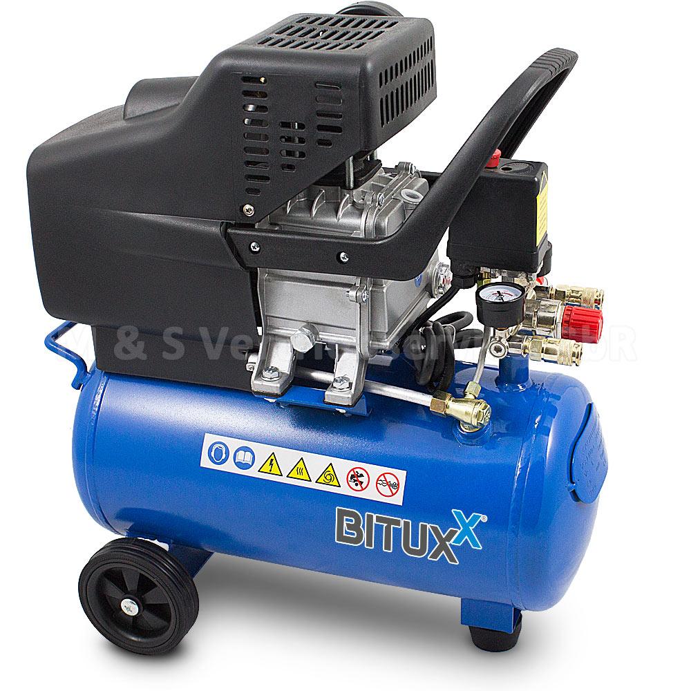 bituxx druckluftkompressor 24l kompressor mit 13 tlg. Black Bedroom Furniture Sets. Home Design Ideas
