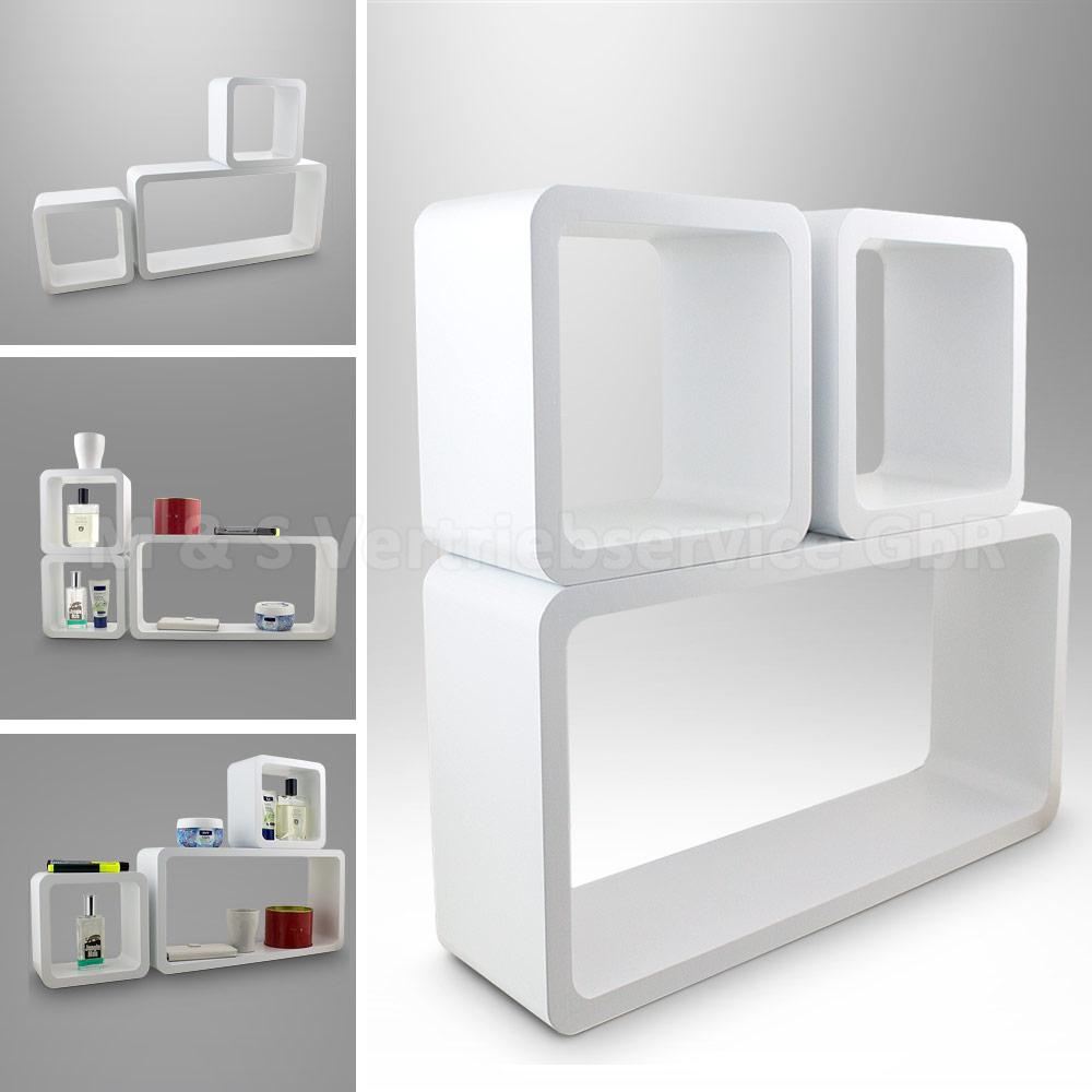 3 teilig wandregal kinder w rfel retro vintage cube wandboard h ngeregal regal ebay. Black Bedroom Furniture Sets. Home Design Ideas