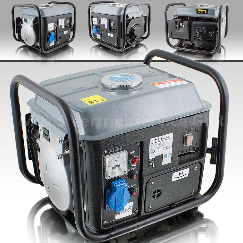 BITUXX® Benzin Notstromaggregat 850W Stromgenerator Stromerzeuger ...