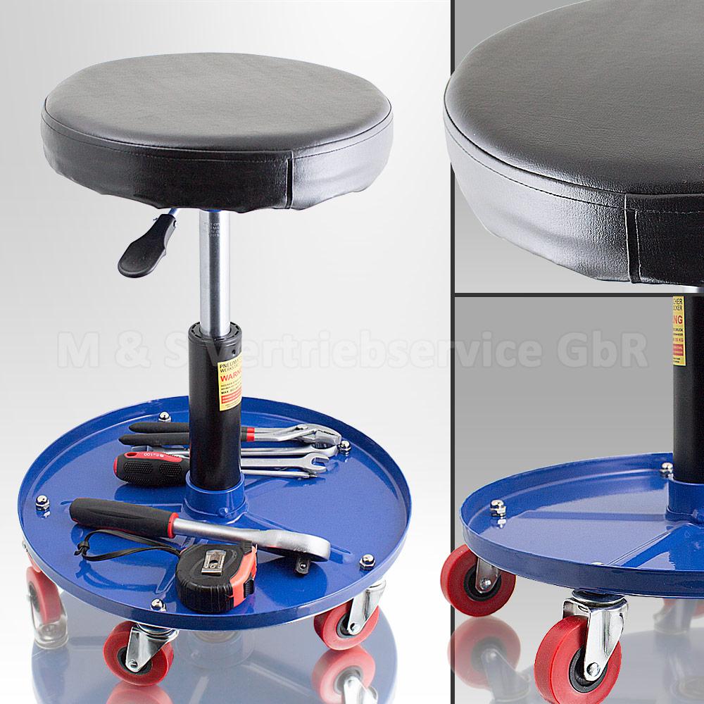 werkstattsitz werkstattstuhl werkstatthocker drehhocker verstellbar hocker ebay. Black Bedroom Furniture Sets. Home Design Ideas
