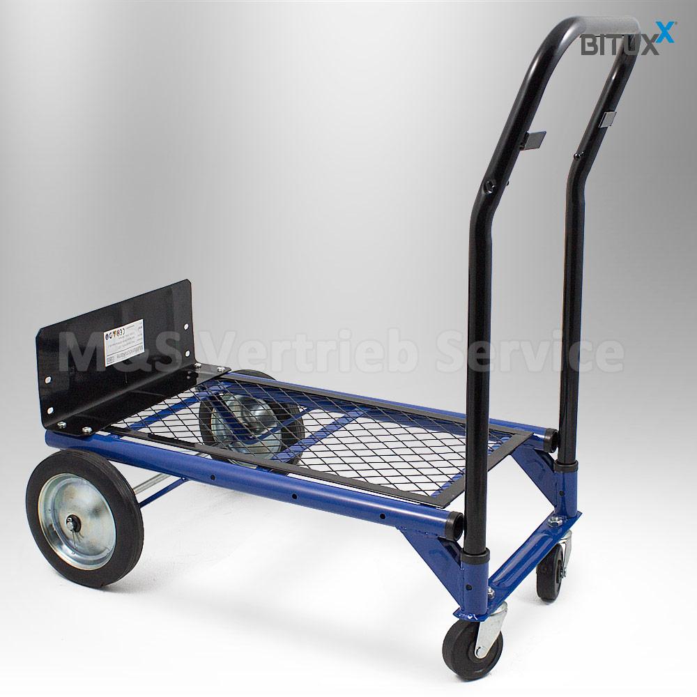 2in1 sackkarre klappbar transportkarre handkarre stapelkarre plattformwagen 80kg ebay. Black Bedroom Furniture Sets. Home Design Ideas