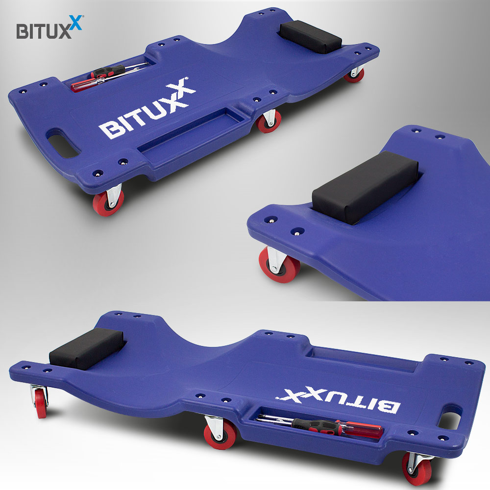bituxx® werkstatt-rollbrett werkstattliege auto montageliege