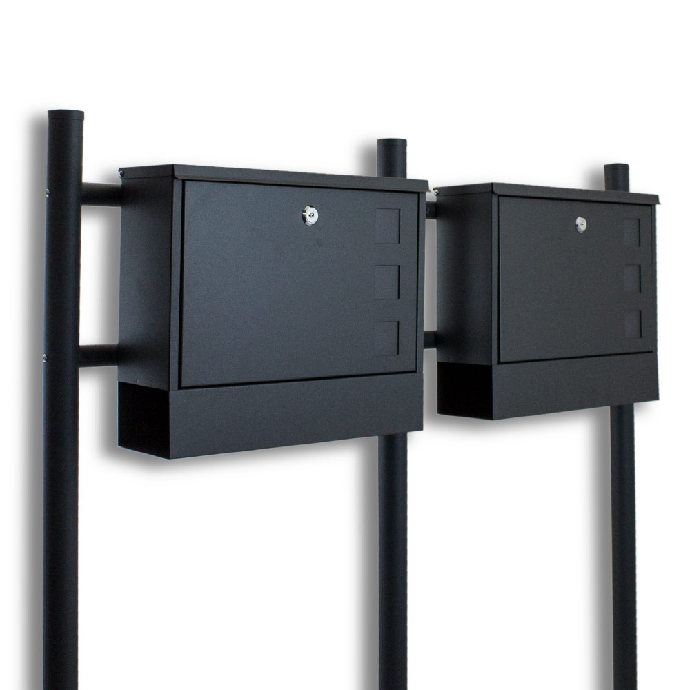 doppel standbriefkasten briefkasten briefkastenanlage. Black Bedroom Furniture Sets. Home Design Ideas